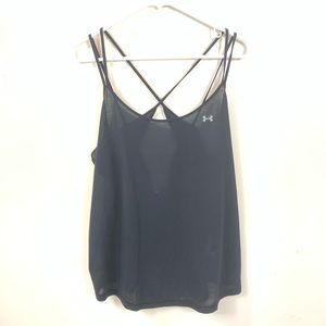 UNDER ARMOUR BLACK STRAPPY BACK TANK TOP SIZE 2X